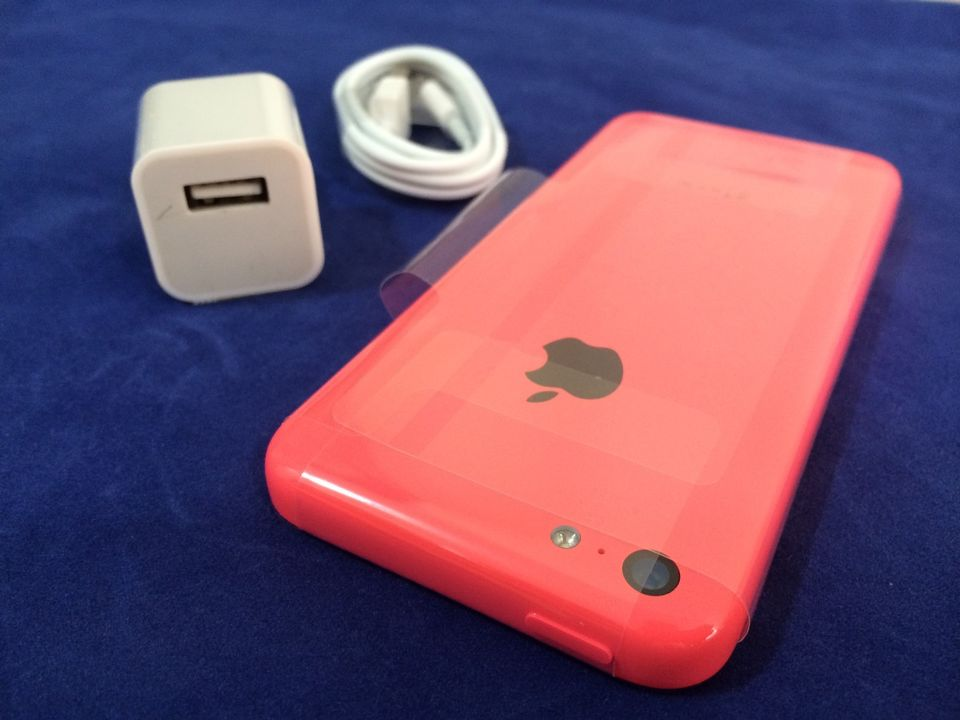 Sprint PCS - gt  Apple iPhone 5C 16GB 4G LTE Hot Pink Smart Phone SprintIphone 5c Pink Sprint