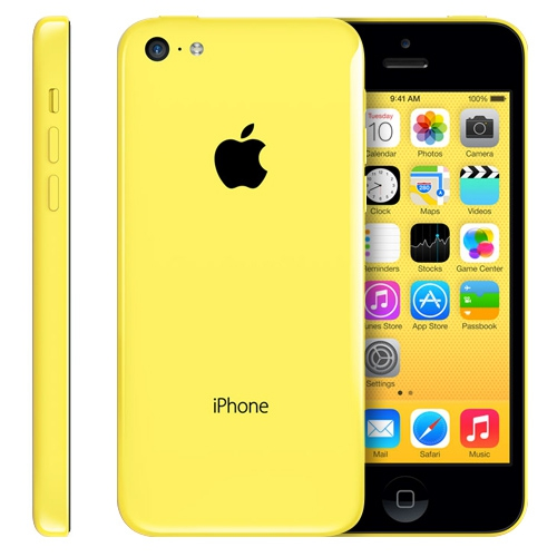 apple iphone 5c 8gb 4g lte yellow smart phone att. Black Bedroom Furniture Sets. Home Design Ideas