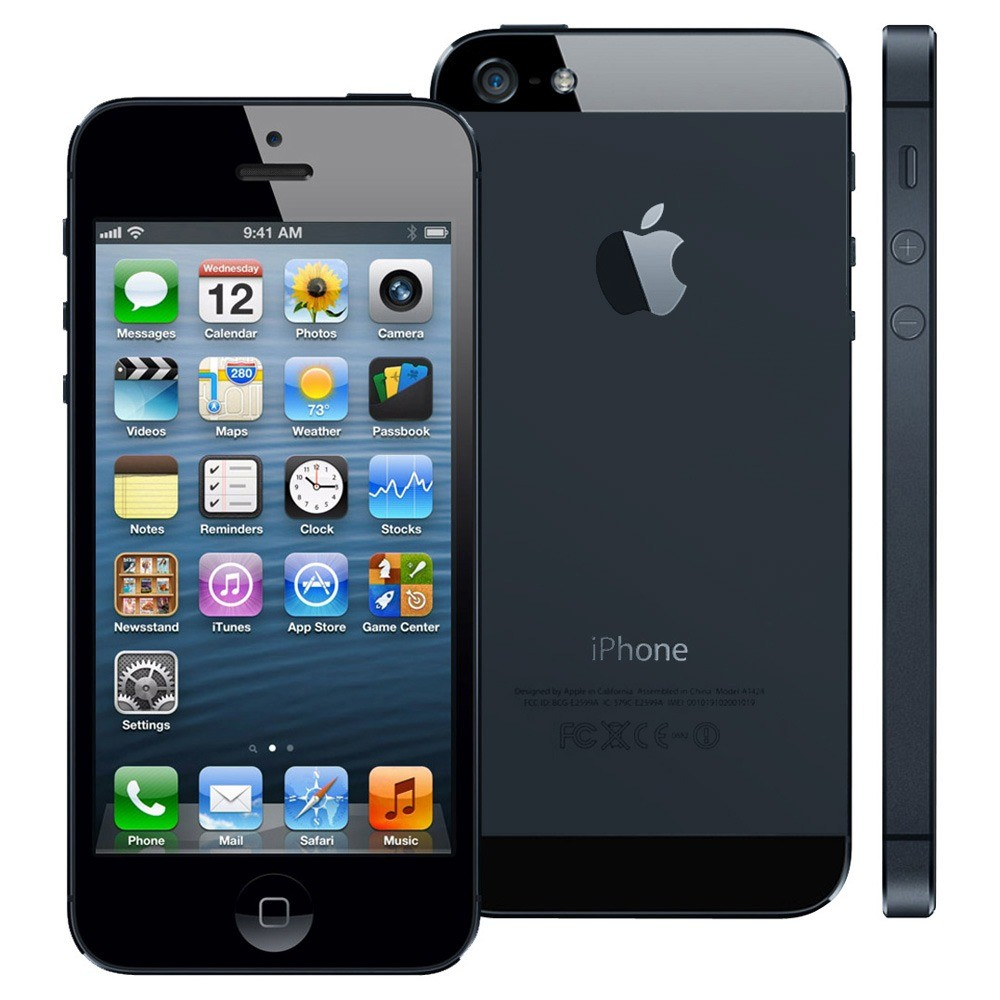 apple iphone 5 32gb 4g lte phone for att wireless in black. Black Bedroom Furniture Sets. Home Design Ideas