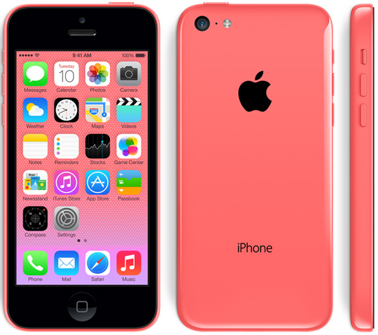 Apple iPhone 5c 16GB 4G LTE with iSight Camera in Pink AT&T Wireless