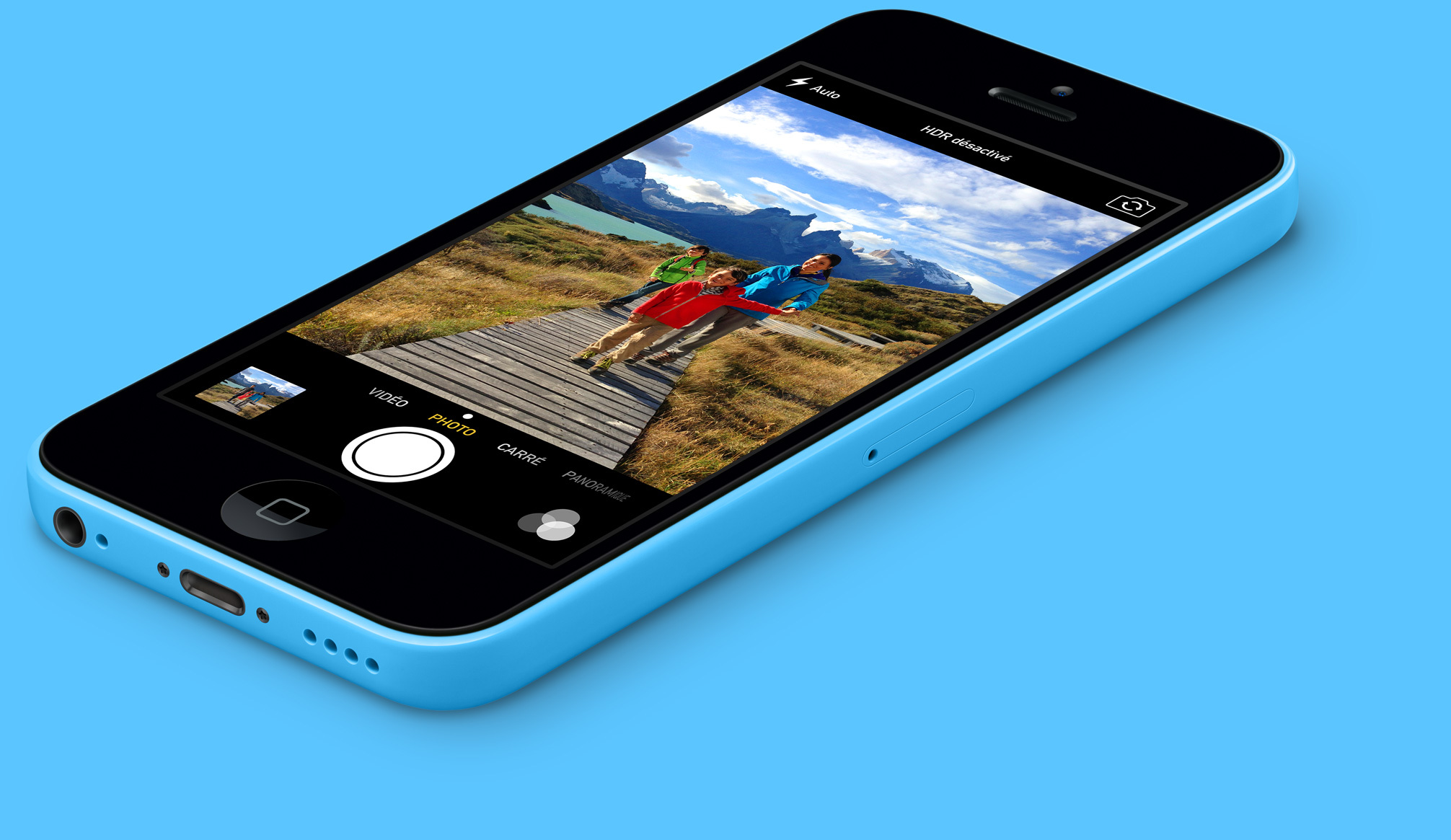 apple iphone 5c 32gb 4g lte with isight camera in blue for. Black Bedroom Furniture Sets. Home Design Ideas
