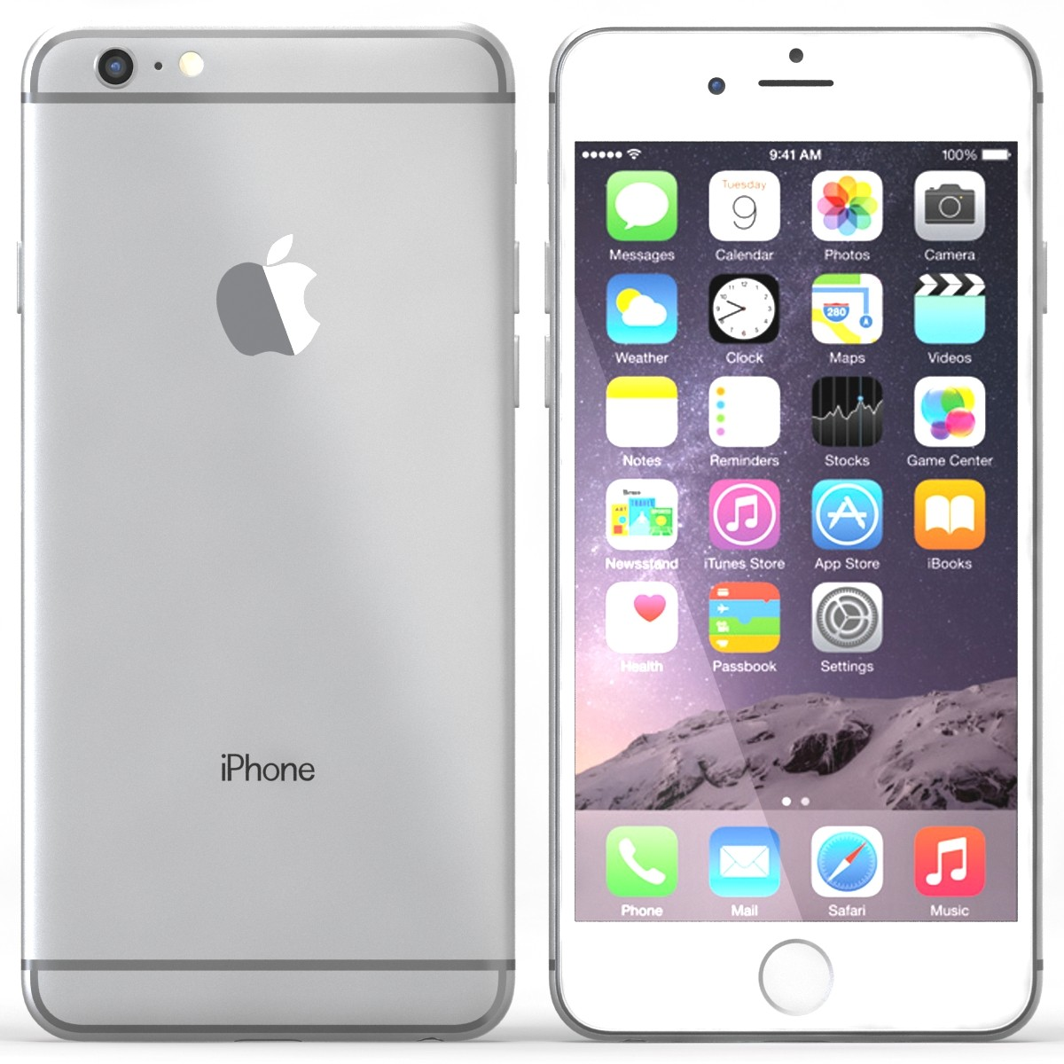 Apple iPhone 6 Plus 128GB Smartphone - Unlocked - Silver