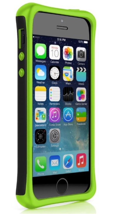 Ballistic Aspira Series Case for iPhone 5/5S - Black/Lime Green