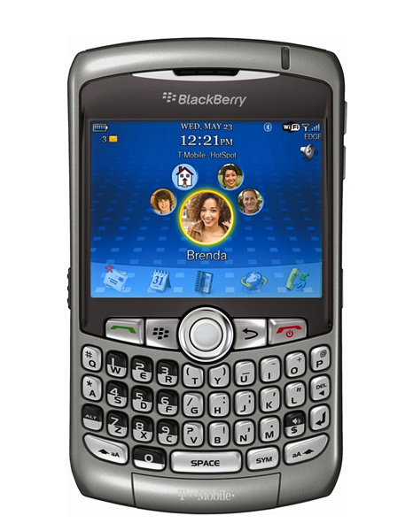 Blackberry 8320 Curve 3G Phone with Bluetooth and WiFi - T Mobile - Gray - Fair Condition : Used