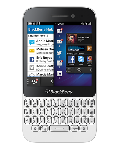 Blackberry Q5 Bluetooth WiFi GPS 4G LTE Smart WHITE Phone Unlocked