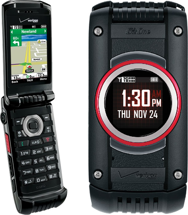 Casio GzOne Ravine 2 C781 Rugged MIL SPEC Flip Phone For Verizon
