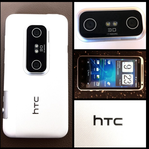 HTC EVO 3D Bluetooth WiFi White 4G Android Phone Sprint