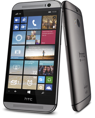 Htc m8 32gb 4g lte wifi camera gps gray windows phone for Window 4g phone