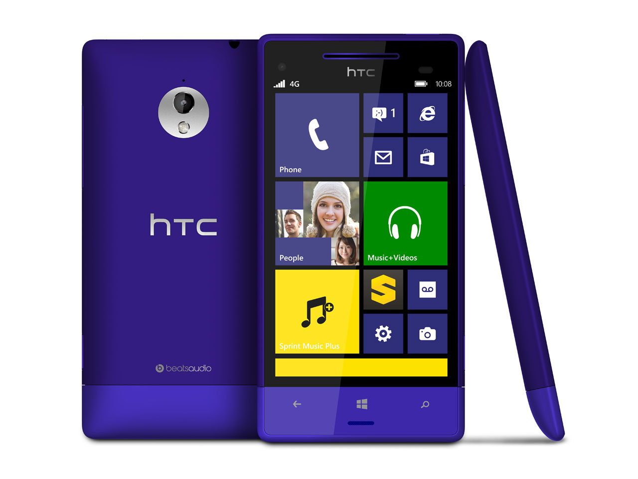 Htc windows phone 8xt blue 4g windows 8 phone sprint pcs for Window 4g phone