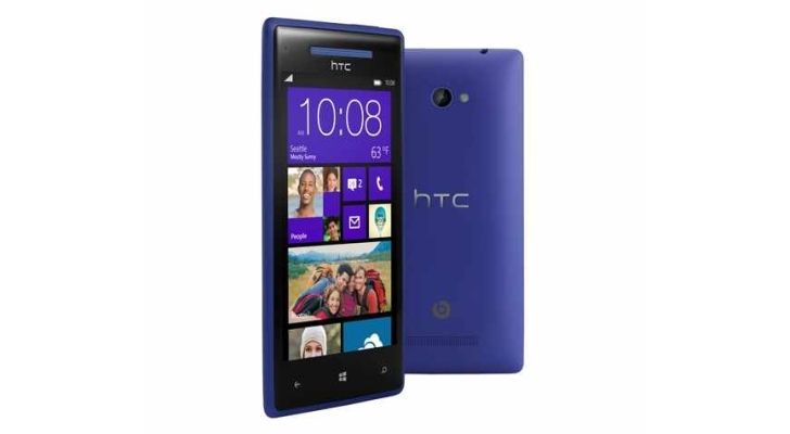 Htc windows phone 8x 4g lte phone for att wireless in blue for Window 4g phone