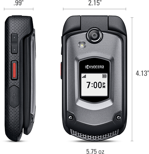 Kyocera Duraxtp E4281 Rugged Flip Phone For Sprint Black