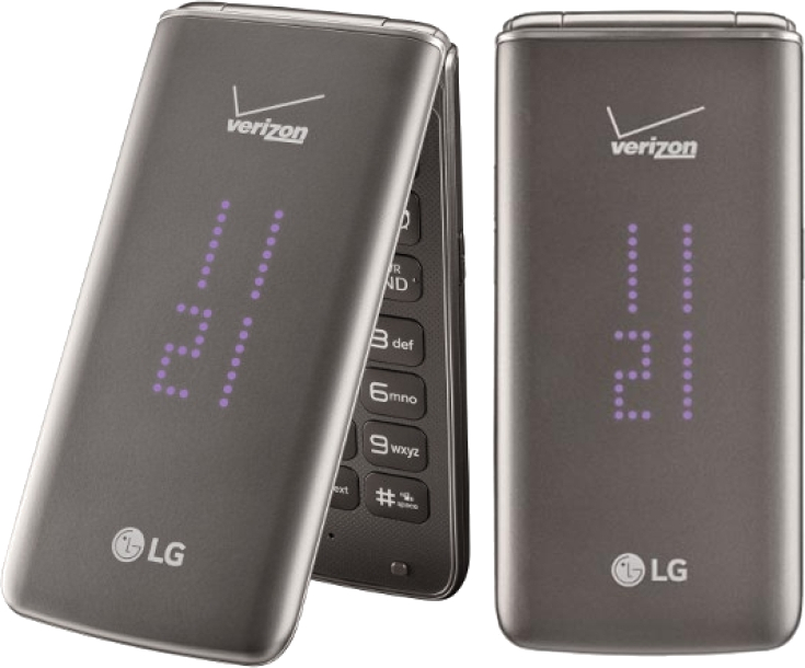 Lg Exalt Ii Vn370 Flip Phone For Verizon Wireless Black