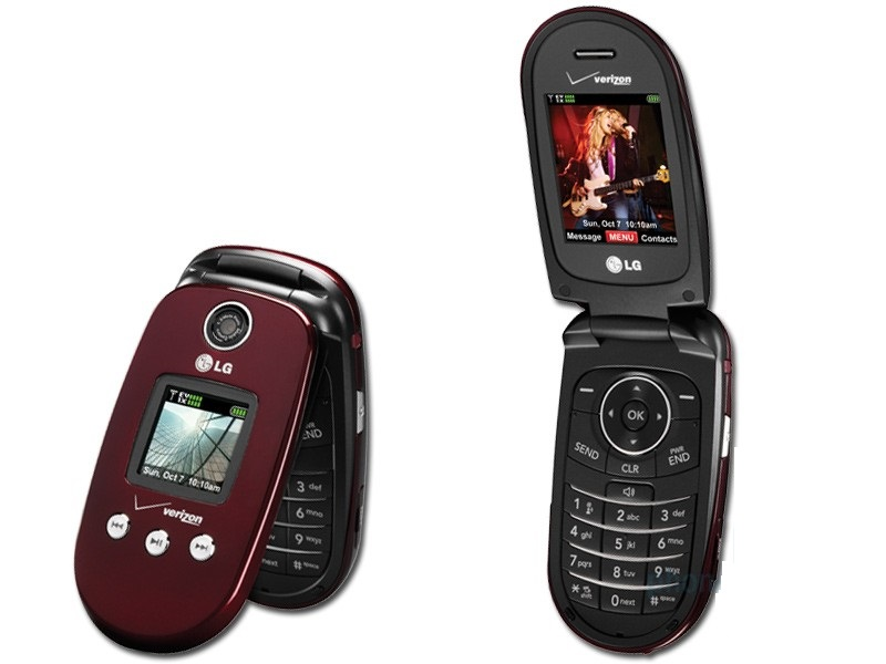 LG VX8350 Bluetooth Music Video Camera RED Phone Verizon ...