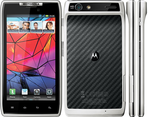 motorola droid razr white. motorola droid razr 16gb xt912 android smartphone for verizon - white razr m