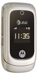 Motorola EM330 Basic Bluetooth Music Flip Beige Phone ATT