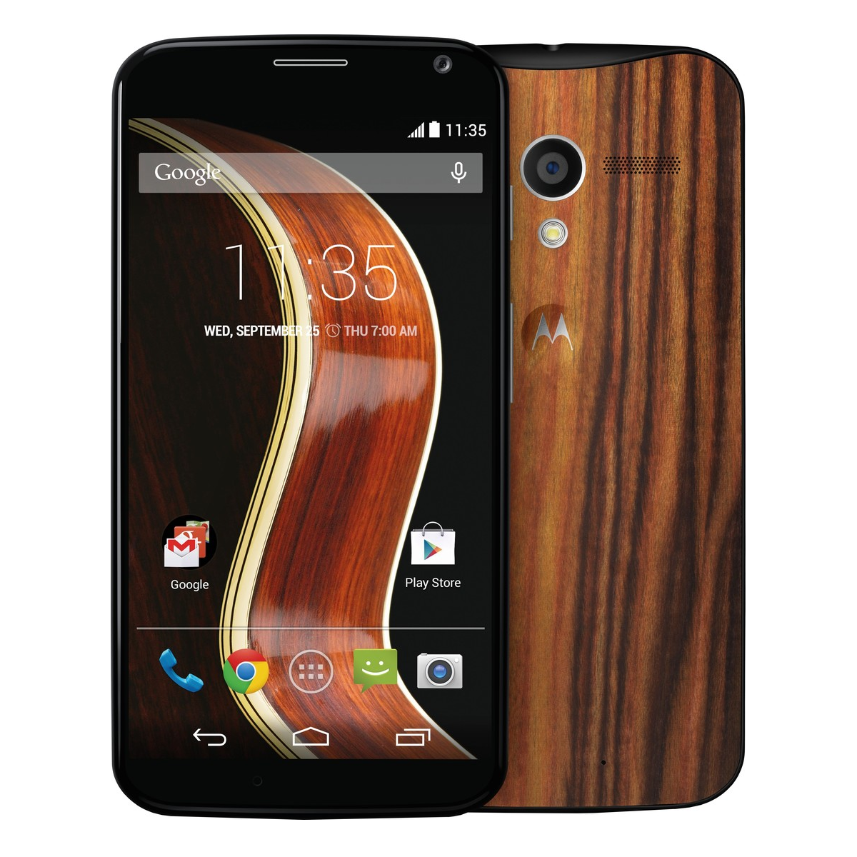 Motorola Moto X WiFi GPS Android 4G LTE Phone Sprint in Black with Wood Back Panel