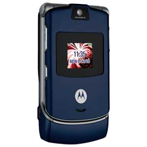 Motorola RAZR V3a Bluetooth Camera BLUE Phone metroPCS
