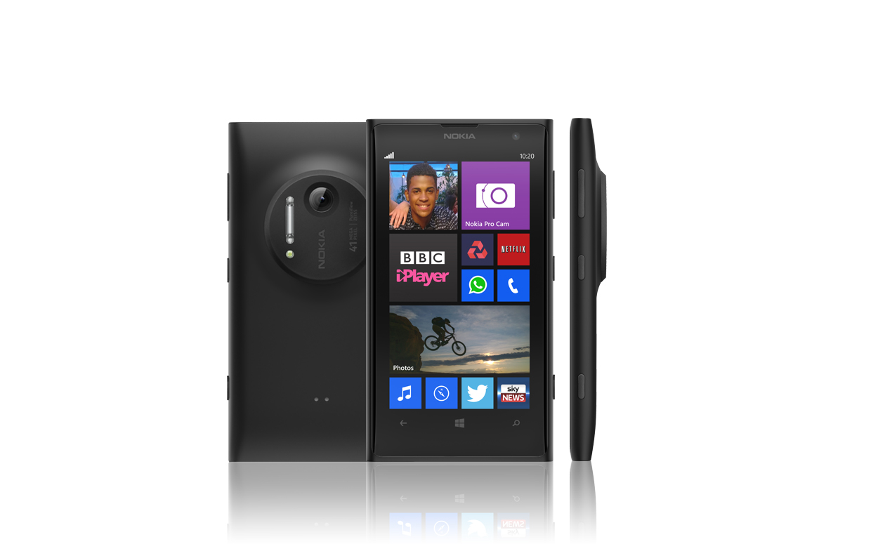 Nokia lumia 1020 nfc black wifi gps 4g lte windows phone for Window 4g phone