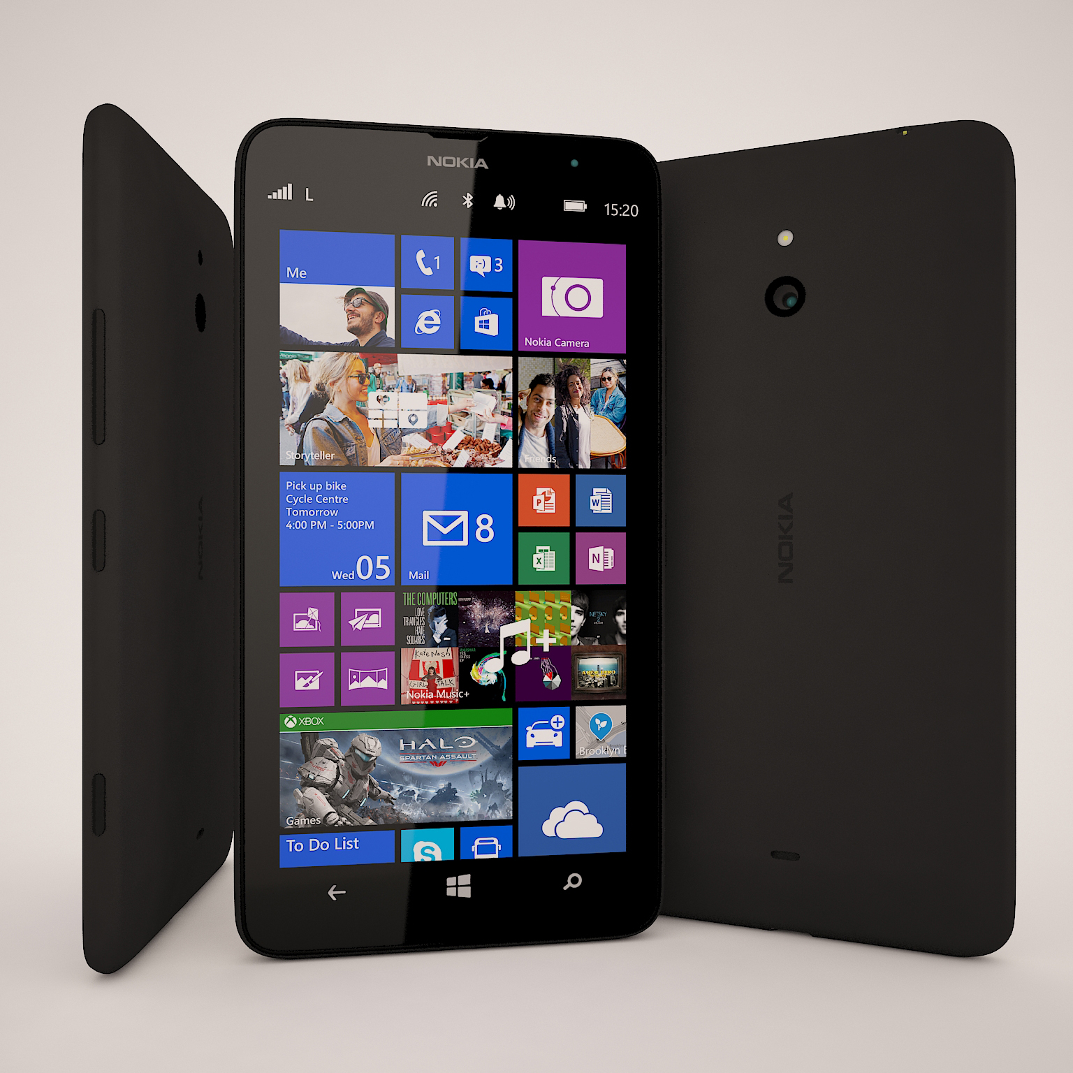 Nokia lumia 1320 4g lte windows phone 8 black smartphone for Window 4g phone