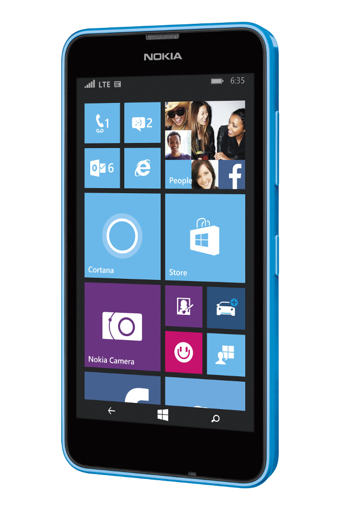Nokia lumia 635 4g lte blue windows 8 smart phone sprint for Window 4g phone