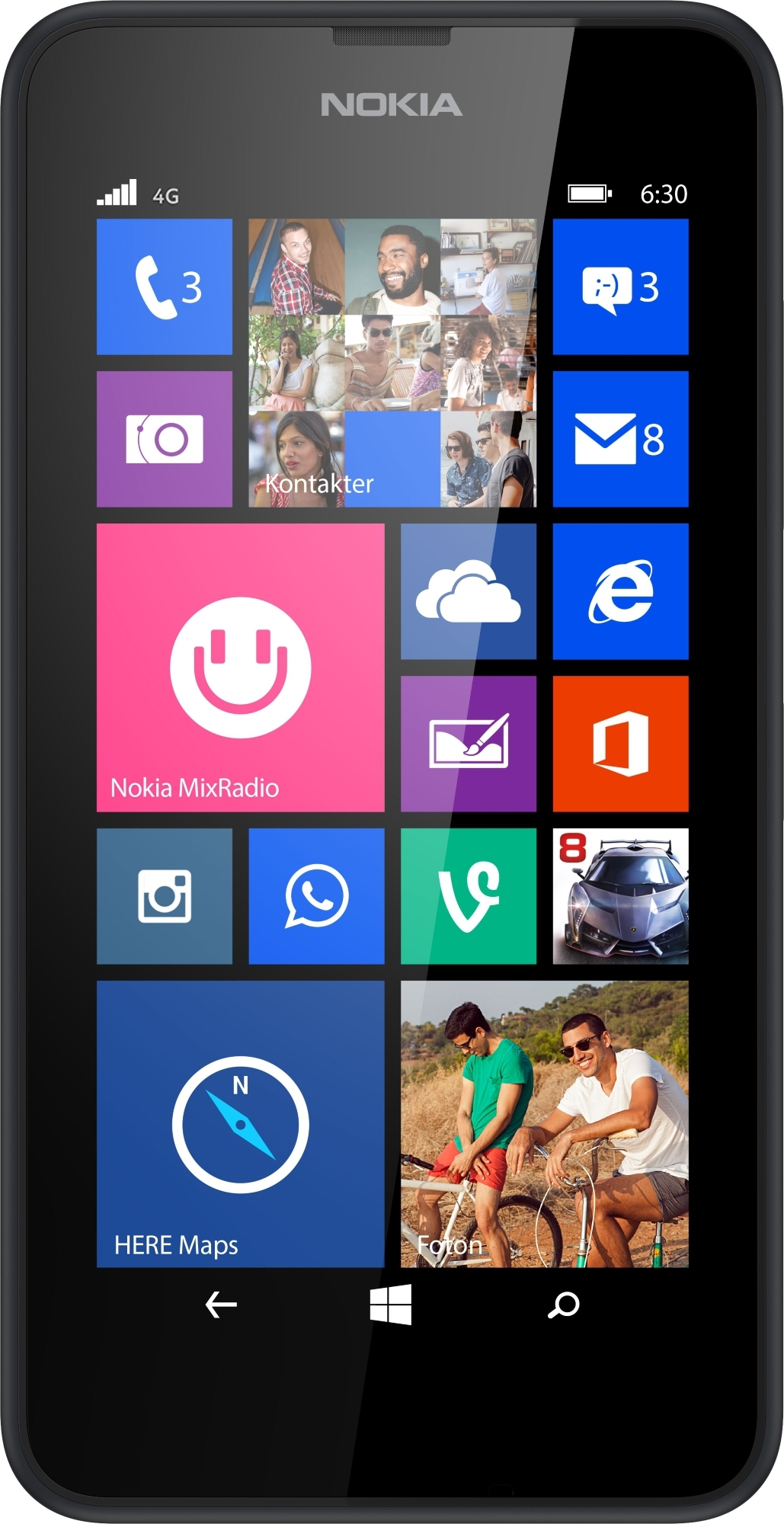 Nokia lumia 635 4g lte black windows 8 smart phone att for Window 4g phone