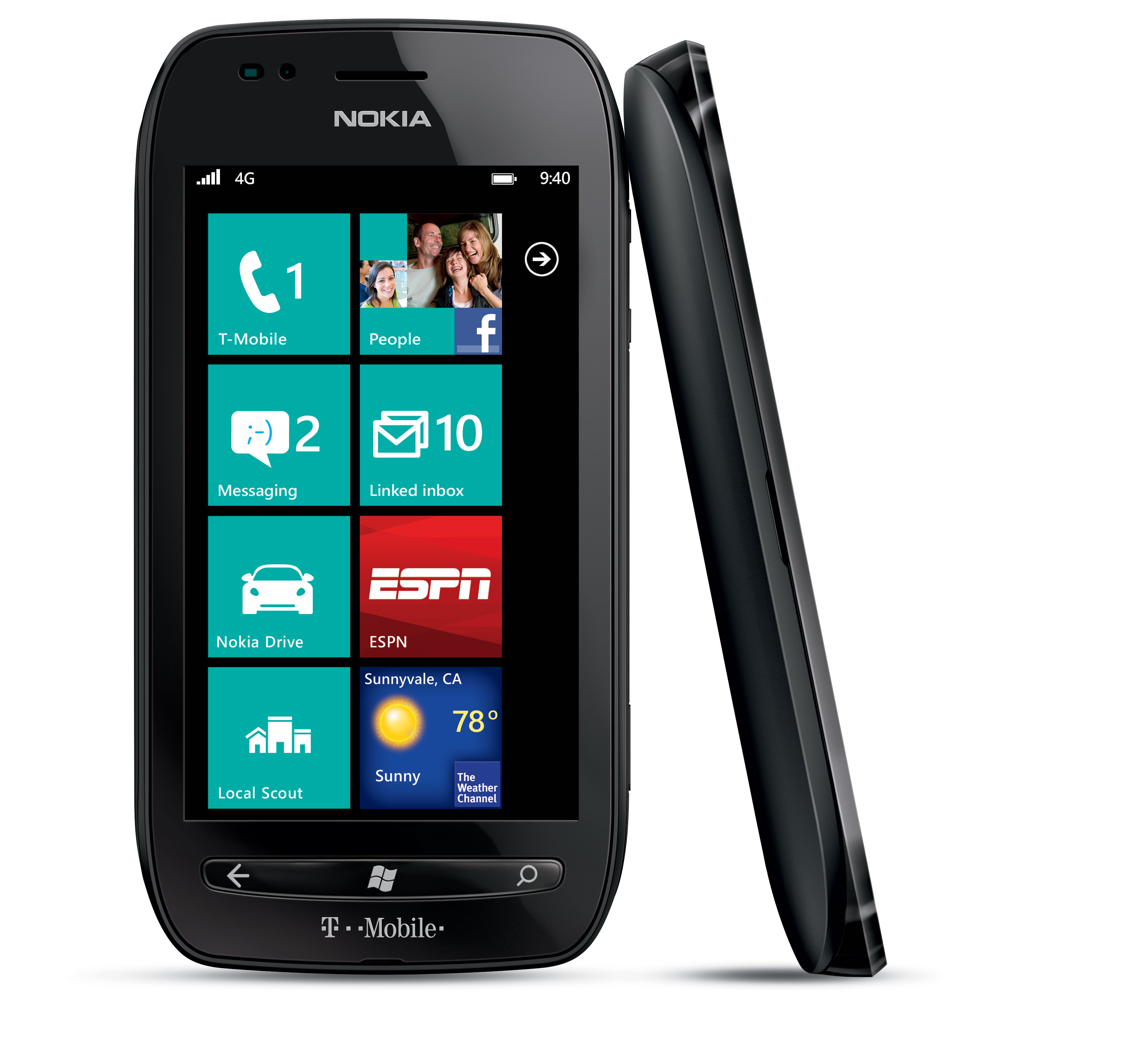 nokia lumia 710 8gb windows 7 smartphone for t mobile black fair condition used cell. Black Bedroom Furniture Sets. Home Design Ideas