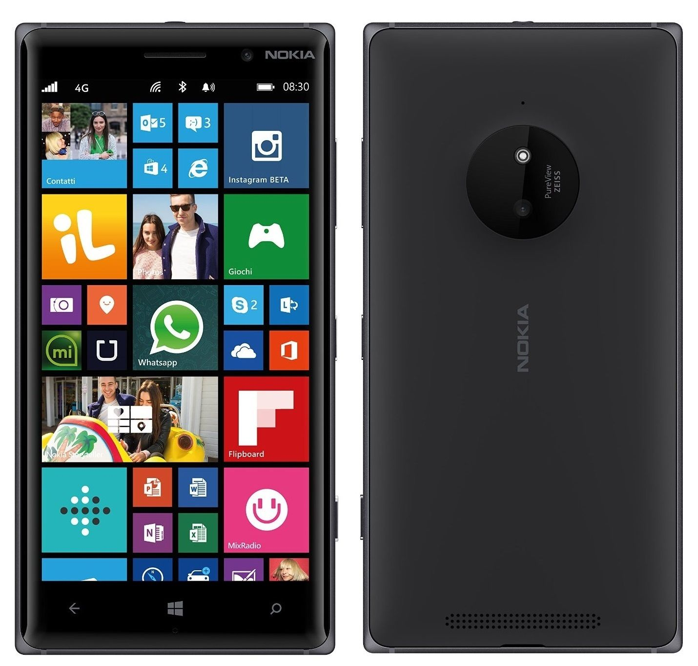 Nokia lumia 830 4g lte bluetooth camera windows 8 phone for Window 4g phone