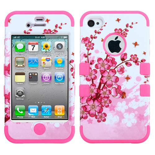 Spring Flowers/Electric Pink Hybrid Case