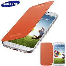 Genuine Samsung Galaxy S4 Flip Cover Case (Orange)