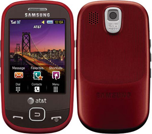 Samsung Flight Bluetooth Camera GPS 3G RED Phone ATT