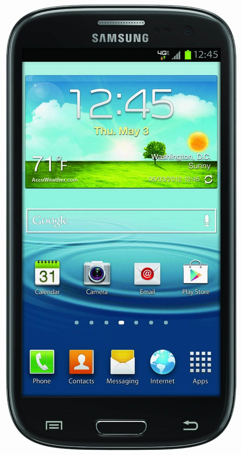 samsung galaxy s3 black 16gb android 4g lte phone verizon. Black Bedroom Furniture Sets. Home Design Ideas