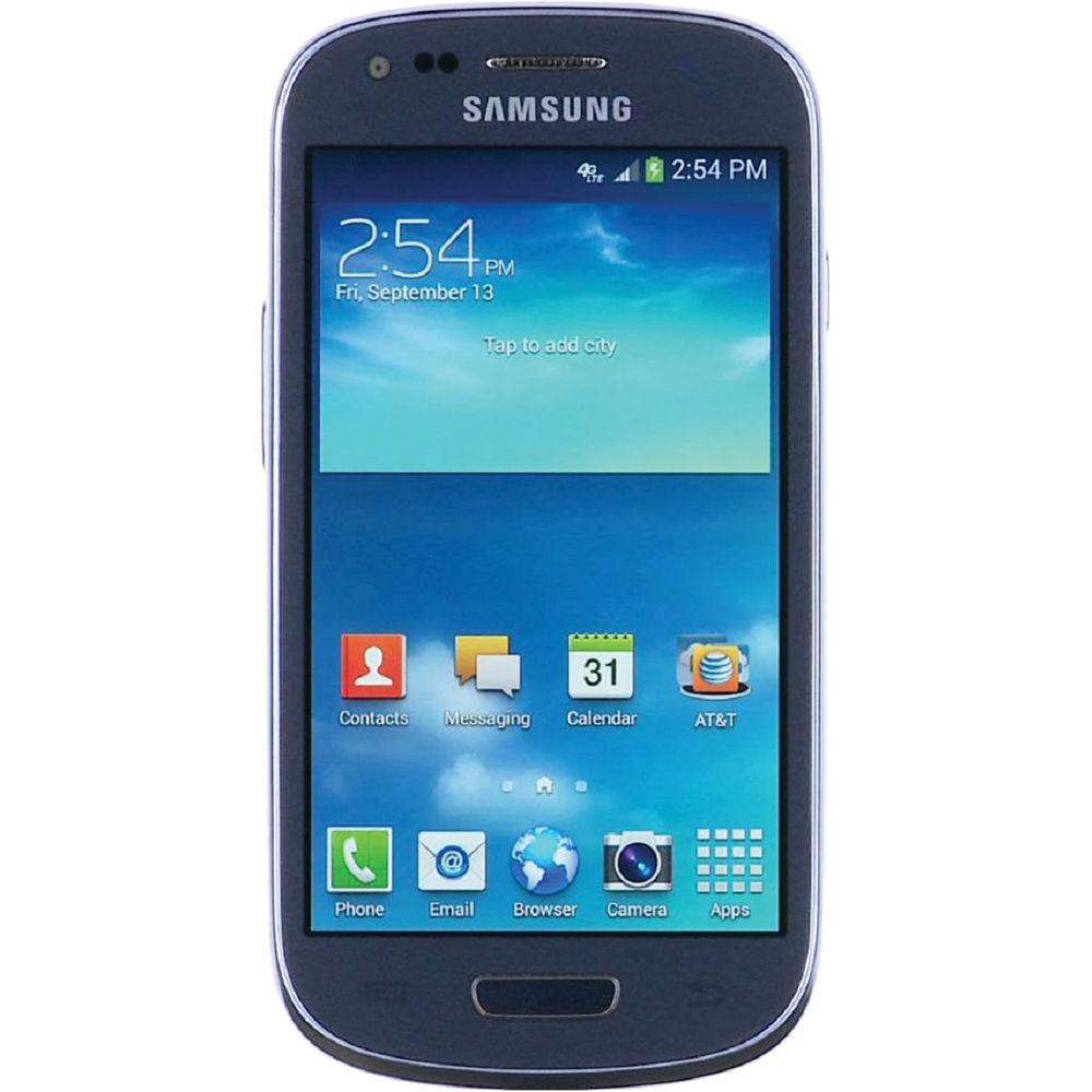 samsung galaxy s3 mini for att wireless in blue good condition used cell phones cheap at t. Black Bedroom Furniture Sets. Home Design Ideas
