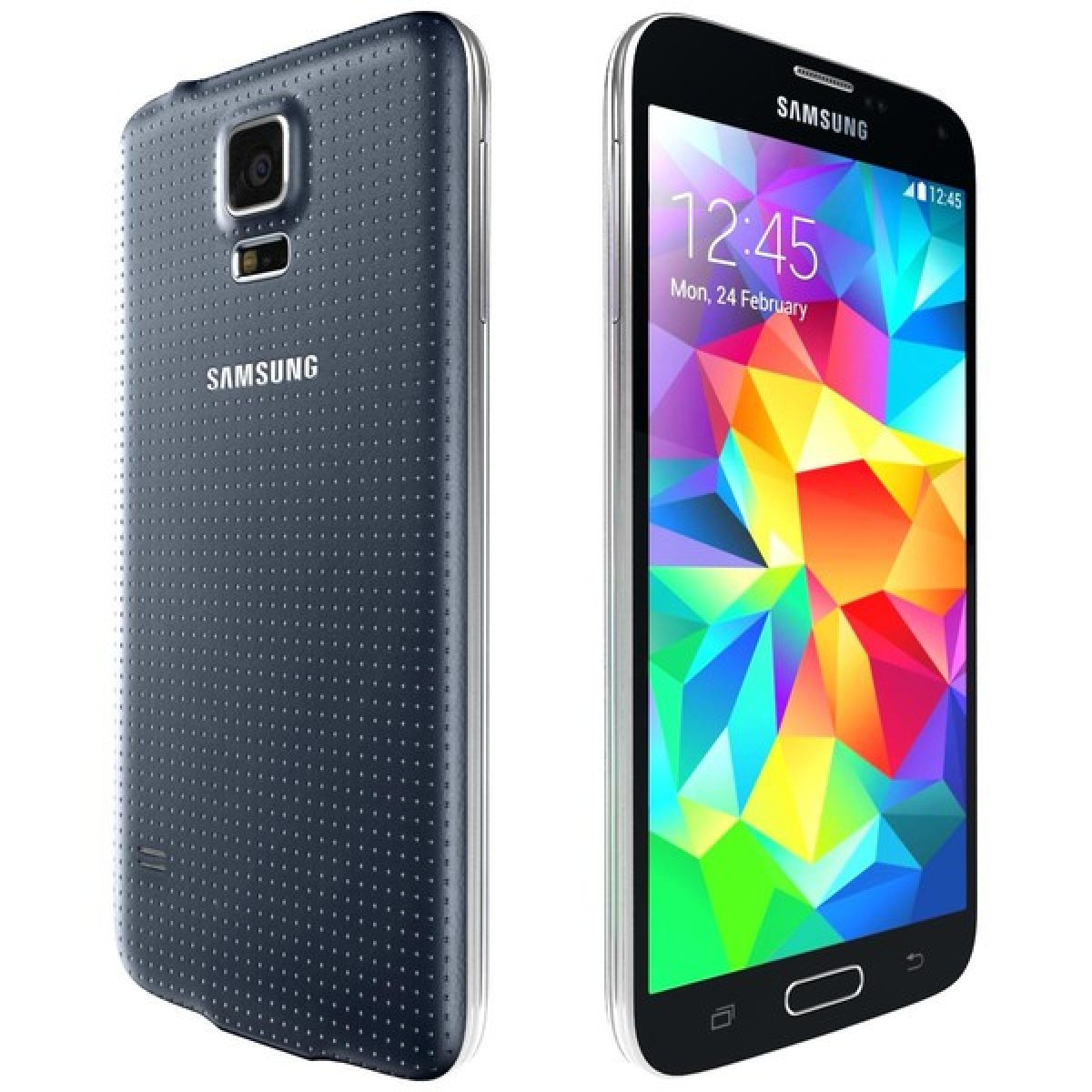 samsung galaxy s5 16gb in charcoal black 4g lte android phone for sprint pcs good condition. Black Bedroom Furniture Sets. Home Design Ideas