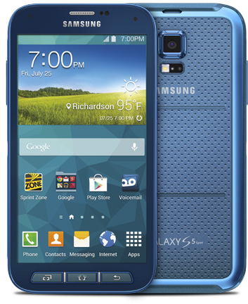 half off 7a6f1 db33d Samsung Galaxy S5 Sport 16GB SM-G860 Waterproof Android Smartphone for Ting  - Electric Blue