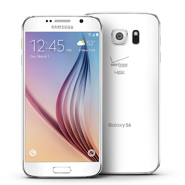 Samsung Galaxy S6 32GB 16MP Camera Super AMOLED 4G LTE Verizon Android Phone in White Pearl