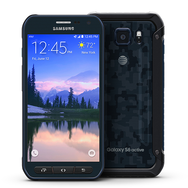 samsung galaxy s6 active g890a 64gb android smartphone unlocked gsm blue mint condition. Black Bedroom Furniture Sets. Home Design Ideas