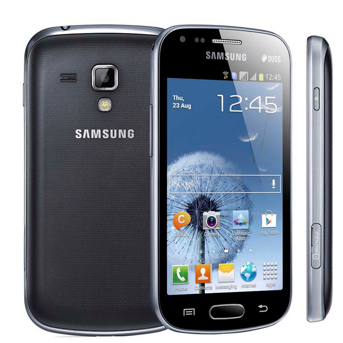 samsung galaxy s duos gt s7562l dual sim android phone unlocked mint condition used cell. Black Bedroom Furniture Sets. Home Design Ideas
