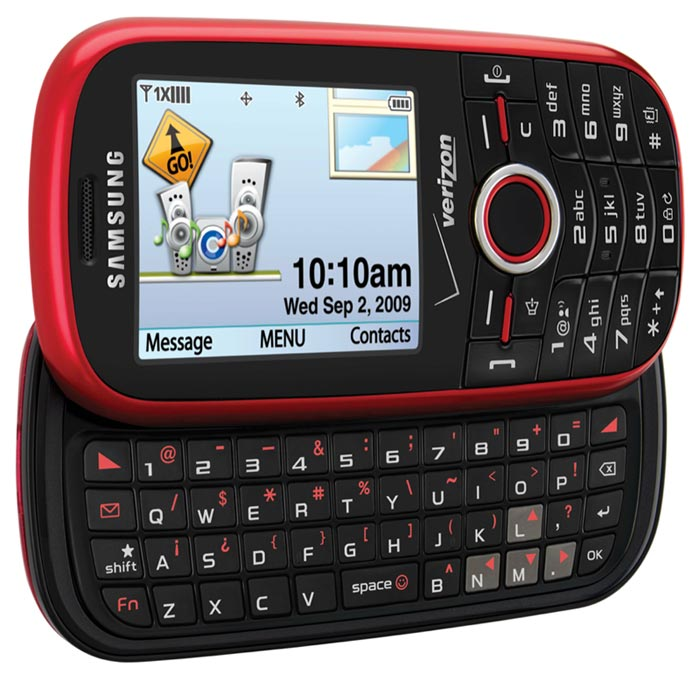 Samsung Intensity SCH-U450PP QWERTY Messaging Phone for Verizon Prepaid - Red - Poor Condition