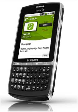Samsung Replenish Bluetooth WiFi Android PDA Phone Sprint