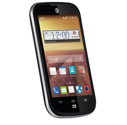ZTE Z830 Compel 1.2GHz Quad-Core Bluetooth WiFi GPS Smart Android Phone ATT Wireless