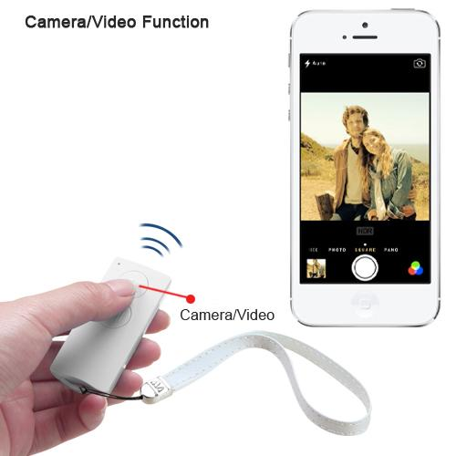 white selfie stick for ios android. Black Bedroom Furniture Sets. Home Design Ideas