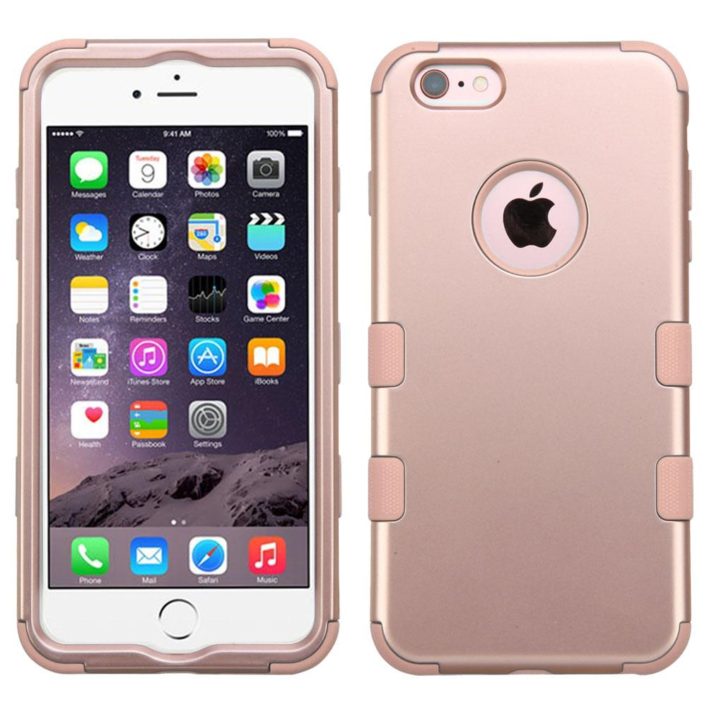 apple iphone 6 plus rose gold rose gold hybrid case. Black Bedroom Furniture Sets. Home Design Ideas