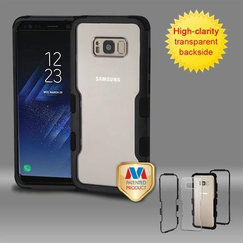 Samsung Galaxy S8 Plus Natural Black Frame????? PC Back/Black Vivid Hybrid Protector Cover