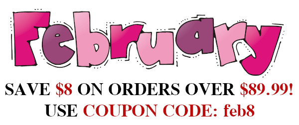 $8 off orders over $89.99, coupon code: feb8